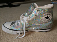 Converse Chuck Taylor All Star Sequin Trainers Size 6 UK