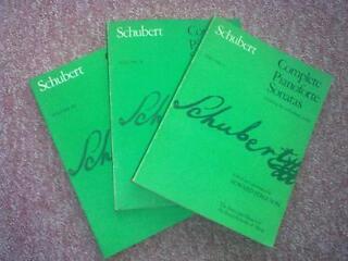 Piano sheet music - schubert