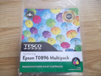 Epson T0896 inkjet cartridge multipack: 3 colours CYAN, MAGENTA, YELLOW + 1xBLACK T08691