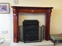 Wooden decorative fire surround