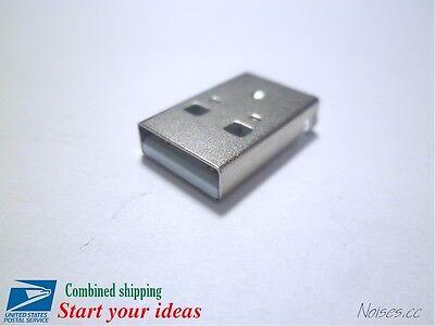 5pcs Usb Type A Male 4-pin 180 Degree Diy Connector Plug Jack