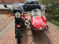 Fantastic Matching Motorcycle and Sidecar