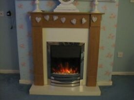 Electric Fire & Surround - Still available. Reduced.