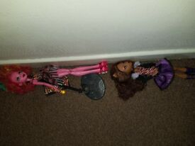 Monster high dolls and accessories