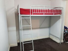 For sale high sleeper. £50. Mattress not included. Cash and collect bd2 x
