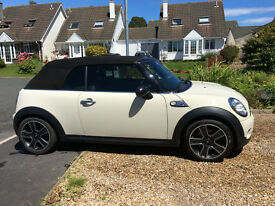 2009 Mini Cooper S Convertible (R56) Pepper White with Full Carbon Black Leather