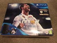 PS4 BUNDLE WITH FIFA 18 BRAND NEW STILL SEALED CONSOLE