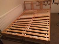 Ikea pine double bed frame-£70 delivered