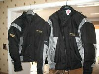 Honda Goldwing motorcycle jackets Xl & L