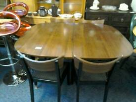 Retro dining table and 4 Chairs #32513 £75