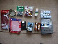 GOLF ACCESSORIES - SELECTION - JOB LOT or INDIVIDUAL ITEMS + BOOKS