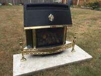 Valor fireplace and marble hearth