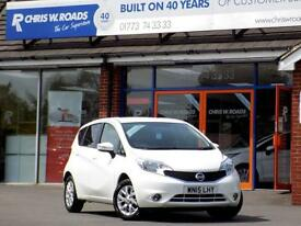 NISSAN NOTE 1.2 ACENTA 5dr * Great Value Small MPV Only 31k * (white) 2015