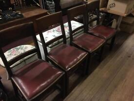 4 vintage solid wood Chairs