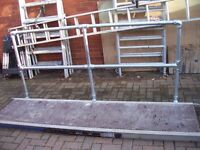 SCAFFOLD PLATFORM YOUNGMAN STYLE 2300 X 600 PLUS SAFETY RAIL
