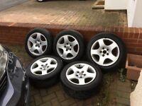 "Genuine 16"" Audi Alloys with tyres."