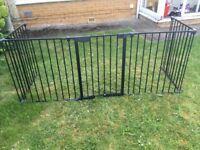 Babydan fireguard/ safety gate black