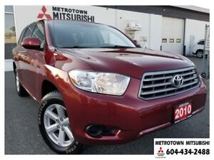 2010 Toyota Highlander V6 4WD; Immaculate condition!