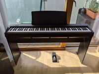 Kawai ES110 digital piano keyboard with HML1 stand, black