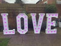 Giant LOVE Letters - RGB
