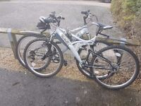 Two mountain bikes in a very very good condition for sale. £200 for both.