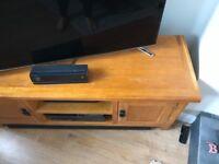 Oak effect tv unit