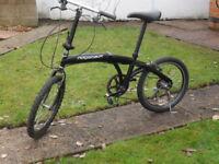 Ridgeback Folding Bike 20 inch wheels - Space saver