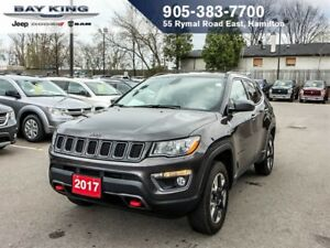 2017 Jeep Compass TRAILHAWK, 4X4, GPS NAV, BACKUP CAM, REMOTE ST