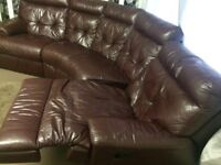 dark red leather sofa good condition