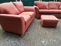 2 Sofas and a footstool