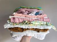 Baby girl - 4x clothing bundles and 1x sleep bundle.