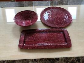 IVV Italian Handmade Glass Platters