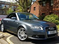 2008 AUDI A4 2.0T FSI FINAL EDITION S LINE CONVERTIBLE SAT-NAV-DVD