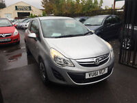 Vauxhall Corsa 1.2 Petrol Manual 3 Door Hatchback 2011 Silver Stunning Car