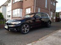 BMW 1.6 118i Sport / 2015 / Black / 1 Owner