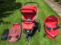 Quinny Buzz pushchair & carrycot and extras