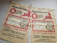 Personalised Santa gift Christmas sacks