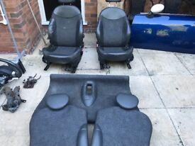 Mini r50/r53 seats full set half leather