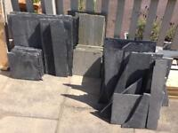 Limestone paving slabs