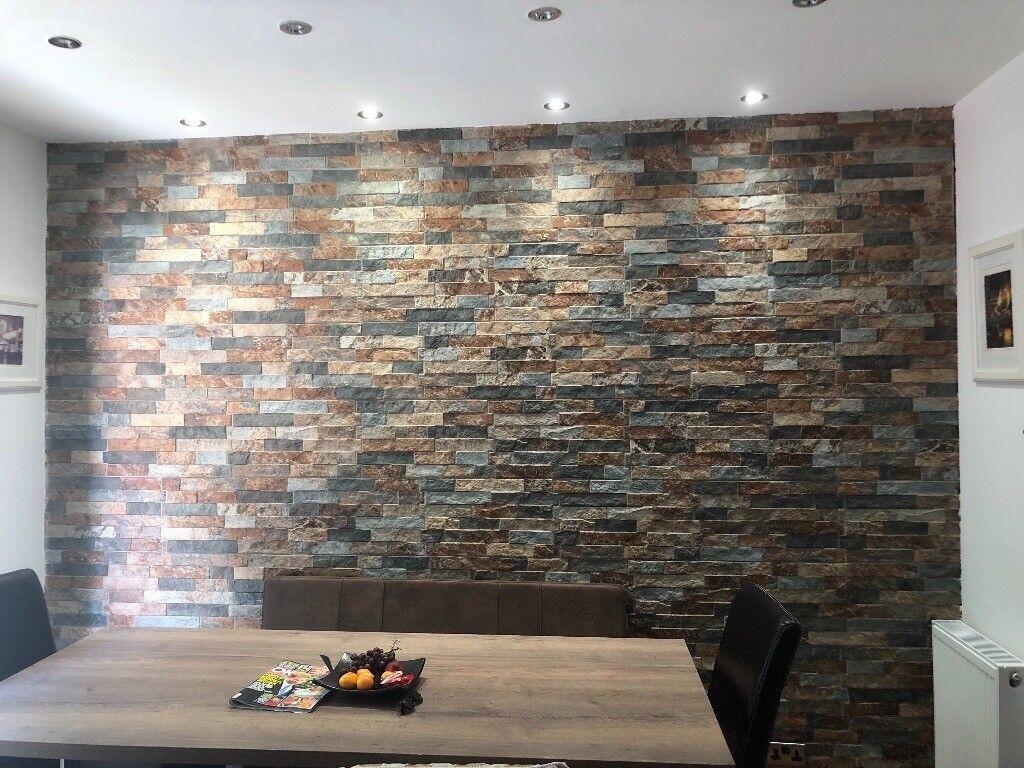 Split Face Tiles In Oyster Colour 10 Metres Suit Kitchen