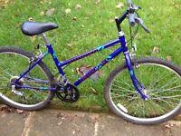 "Raleigh women's bike 26"" wheels 16"" frame,5 gears, fully working order"
