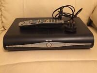 Sky + Plus hd box with remote and power cable / lead