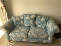 3 x two seater sofas with matching footstool