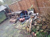 Rubble, scrap metal and various scrap wood needs to be taken away.
