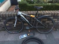 Giant bike \w spare tires + lock + tools