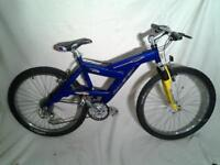 Raleigh Max lite ht2 s7005 mountain bike in blue / yellow quick release wheels