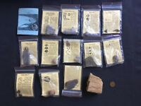 Small Fossil Collection – Shark's Teeth, Dinosaur, Urchins, Petrified Wood, Crystals / rocks etc.