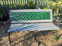 Refurbished garden bench.