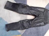 ladies black leather motorcycle trousers