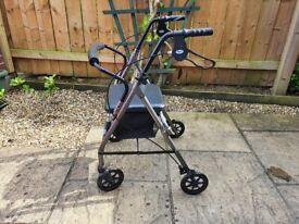 Mobility Walking Aid (Rollator) - VGC - Height Adjustable - Lightweight Disabled Zimmer Frame Walker